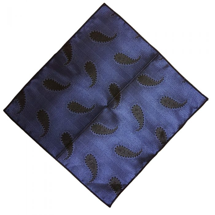Hankie SILK Pocket Square Handkerchief MENS Hanky BLACK